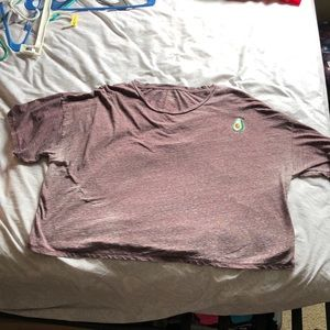 American Eagle purple heather crop top with patch